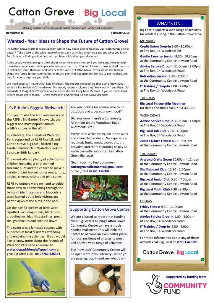 Big Local Newsletter 15 front page j-peg