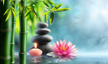 Spa - Natural Alternative Therapy With Massage Stones And Waterl